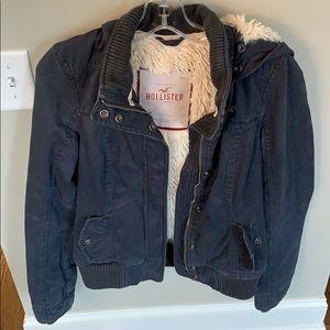 Women's fur hollister jacket